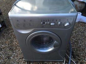Indesit Washer/Dryer Silver WD125 - Hardly Been Used