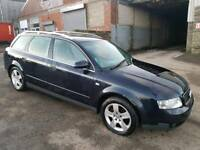 2003 AUDI A4 1.9 TDI SE 130 BHP 5 DOOR ESTATE BLACK 11 MONTHS M.O.T