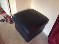 Sofart leather footstool