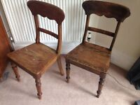Two solid wood kitchen chairs £50