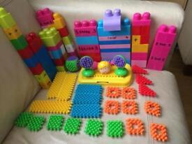 Stickle bricks and mega blocks