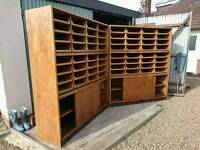 Haberdashery Cabinet Oak 32 Drawer ( 2 available)