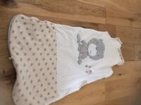 Baby unisex sleeping bag, age 6-12 months, 2 tog