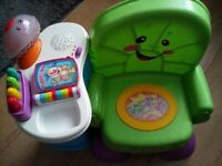 Fisher price musical chair with lights and sounds for toddlers