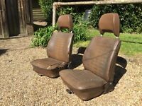 VW Campervan Original Late Bay window, High back front seats. Ready for re- upholstery.