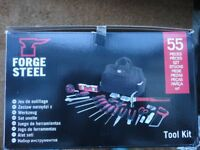 55 PIECE FORGE STEEL TOOL KIT **NEW**