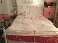 *Lovely White double bed*