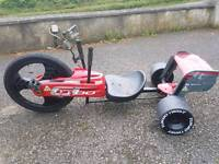 Red turbo trike