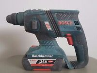 BOSCH GHB 36v BRUSHLESS li-ion SDS drill + 2ah battery.