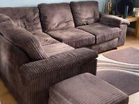 Corner sofa and Pouffe