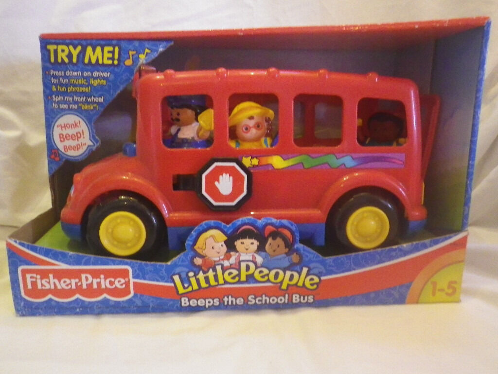 Fisher Price Little People Beeps the School Bus (Red) | in Basford ...