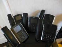 HD VOICE PHONES X 5 (polycom model WX411)