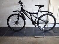 Mountain Bike,full suspension, disc bakes, as new, used only once