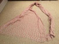 Ladies large scarf / wrap - pink