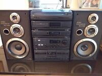 AIWA Stereo Full Automatic Turntable System - 3 Way Bass Reflex Speaker System