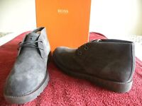 Hugo Boss, Newwos Dark Grey Orange collection. Smart/casual High ankle shoes. Size 6.