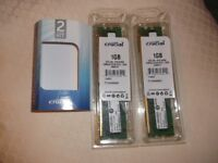 Crucial 1GB 2 Channel Kit Upgrade for a Dell Dimension 3100 System-new