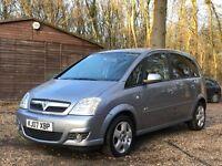 Vauxhall Meriva 1.6 i 16v Design 5dr (a/c) 2007 MPV 57,610 miles Manual 1.6L Petrol