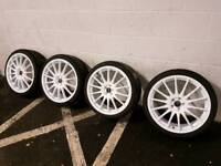 19 inch fox alloy wheels 5x100 vw golf/seat leon/audi