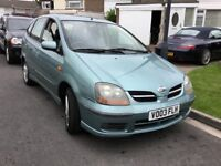 Nissan almera tino 1.8 special edition 2003 facelift 5 door mpv people carrier 12 months mot