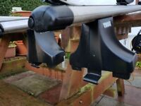 Thule Roof Bars and Bike carriers.