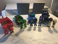 PJ Masks vehicles and figures