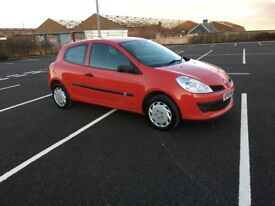 2008 RENAULT CLIO 1.2 FREEWAY IDEAL 1st car cheap tax and great mpg