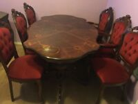 ITALIAN DINING SET with 6 chairs, cost £800 when new, great condition