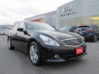 2012 Infiniti G37X Premium pkg., Bose audio, Sunroof, Rearview c