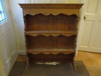 Lovely Pine Dresser Top, or hang as a Plate Rack / Display. Unvarnished. Can be painted or stained.