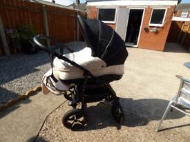 "Black and cream Baby Merc"" Quality pram"""