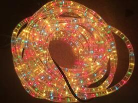 *** SOLD*** Multi-coloured/function rope lights