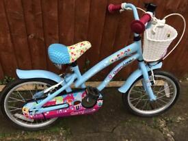 """Kids bike 16"""" Cherry Lane Halfords Good condition"""