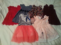 6x Baby Girls Dresses for sale - 6-9 months