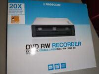 NEW boxed Freecom external DVD ROM/writer