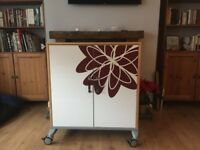 Ikea storage unit, table and seat