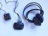 Philips SHC2000 Headband Wireless Headphones - with charger