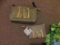 Mothercare changing bag with clutch bag