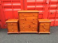 Bedroom set - can deliver - Chester drawers bedside unit