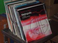 "110 x 12"" Electro House / Trance Records Vinyl Collection."
