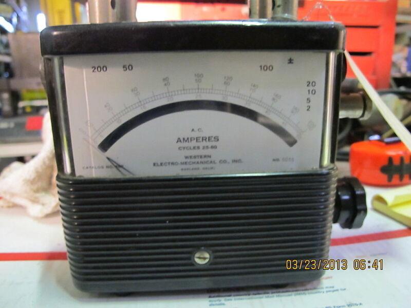 Vintage Weston 582 Portable Ammeter Bakelite a