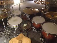 Premier Genista Maple Custom Reissue Drum Kit Tobacco Burst Shells Set 22/16/14/12/10 Evans EMAD