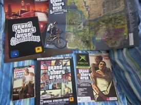 GRAND THEFT AUTO San Andreas Brady Games Official Strategy Guide + Sticker Sheet + More Extras!!