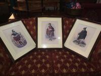 Three Antique R.R. McIan Scotsman Scottish Clan Highlander Framed Prints