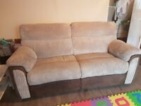 Harvey's 3 seater recliner and chair