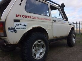 Lada Niva Hussar 4x4 Offroad Competition Vehicle with Warn 8274 Winch