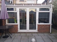 Used lean to Conservatory for sale - White UPVC 4020mm X 2840mm - Great condition Buyer To Dismantle