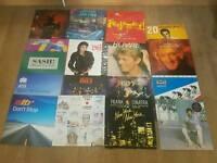 Various vinyl records - michael jackson. Bowie. Kiss. Lionel