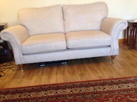 SOFA MARKS & SPENCER SALISBURY (MEDIUM SIZE) IN HELIX CALICO MIX, COMPLETE WITH ARM COVERS