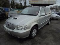 KIA SEDONA 2902cc L TURBO DIESEL 7 SEATER MPV 2003-04, SILVER, ONLY 1 FORMER KEEPER AND ONLY 103K